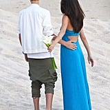 Selena Gomez brought Justin Bieber as her date to a friend's wedding.