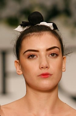 Photo of Daisy Lowe. How To Get Backstage Model Beauty Makeup Look at PPQ London Fashion Week. Expert Makeup Artist Tips