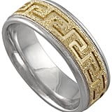 Greek Key Wedding Band ($575)