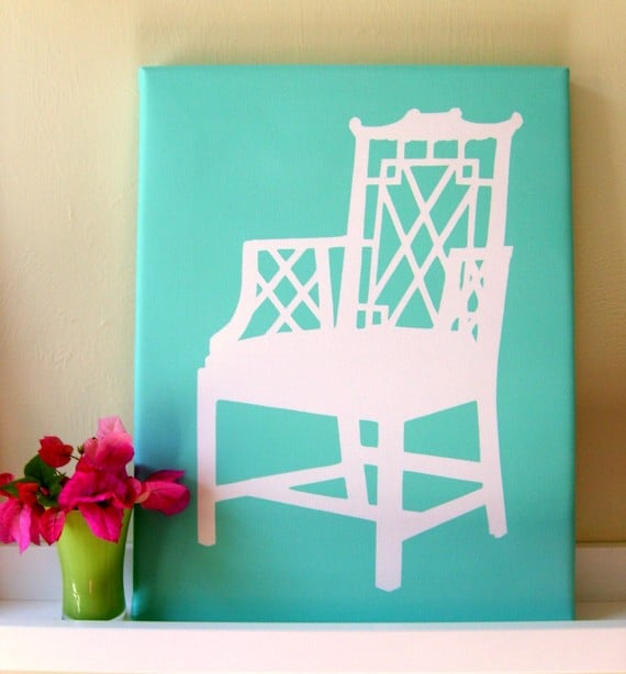 Lattice Chair Silhouette ($65)
