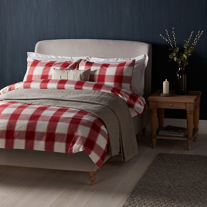 John Lewis Ombre Check Brushed Cotton Duvet Cover and Pillowcase Set