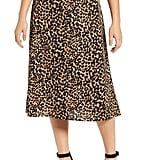 Loveappella Palm Print Midi Skirt
