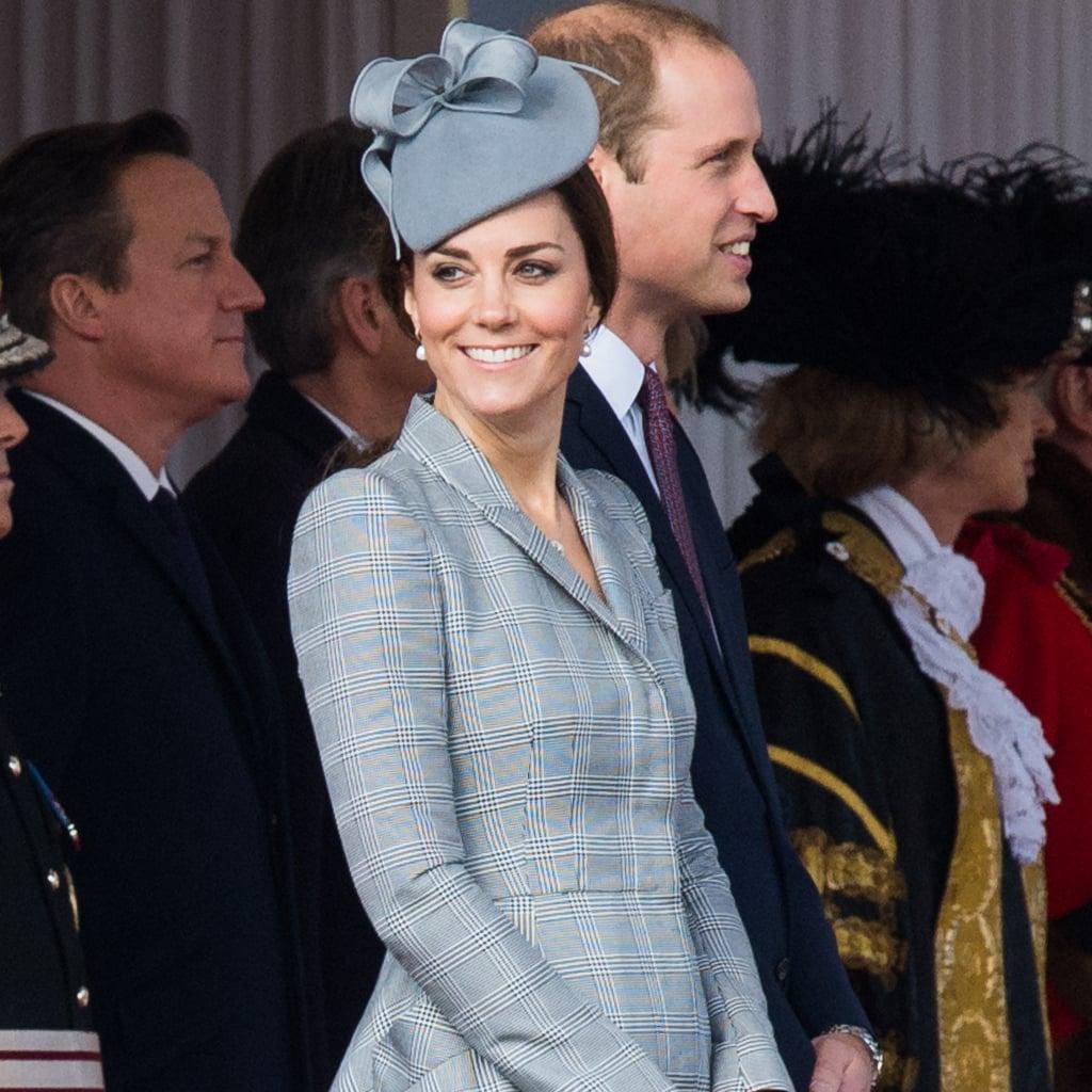 Kate Middleton Pregnant Style Alexander McQueen Grey Coat | POPSUGAR ...