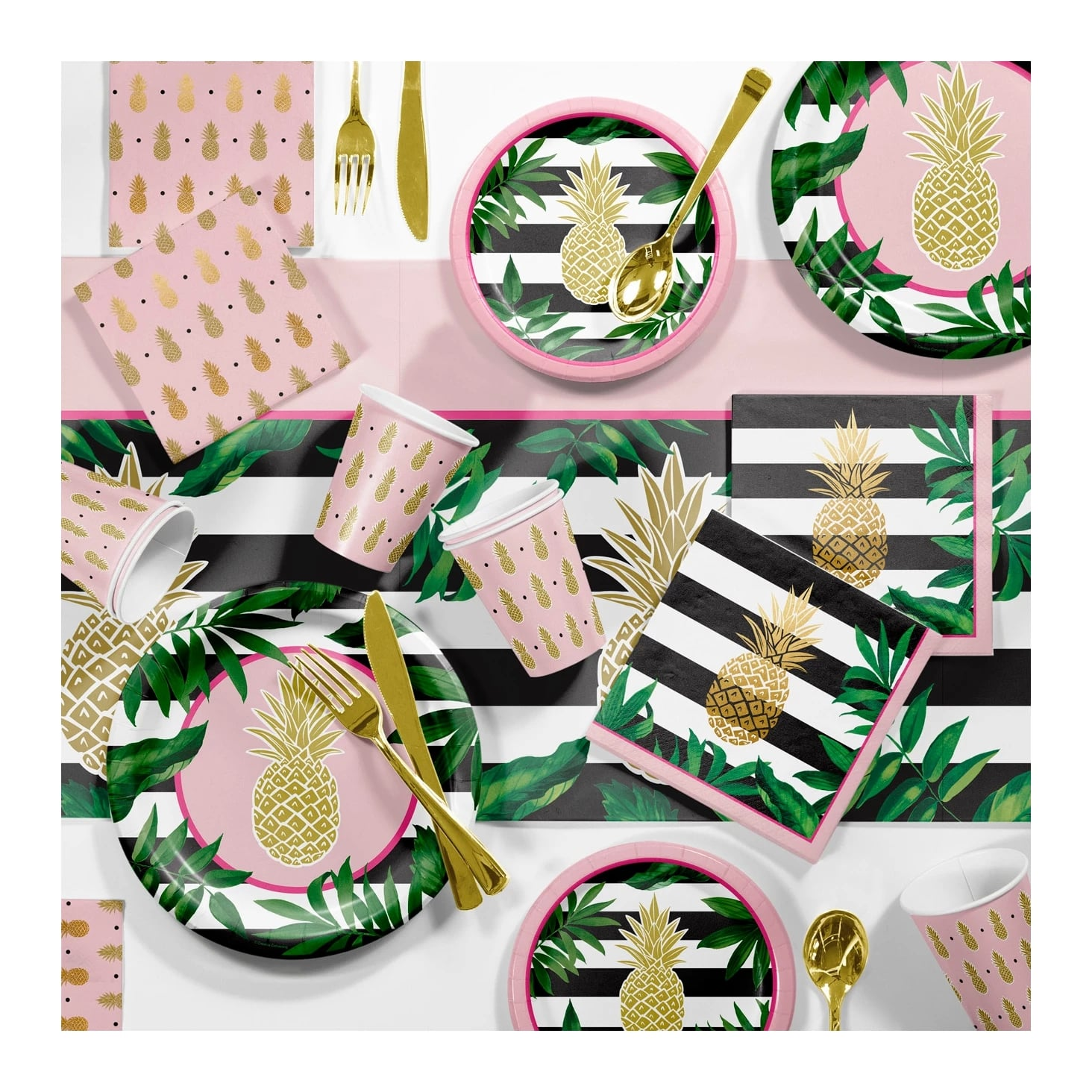 Large Pineapple Party Supplies Kit Get Inspired 98 Bridal