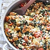 Skillet Tomato Casserole With White Beans and Parmesan