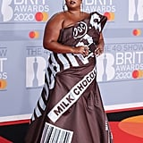 Lizzo's Moschino Hershey's Chocolate Dress on the Red Carpet