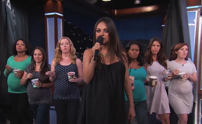 Watch: Mila Kunis's Warning to Dads-to-Be Is a Must-Watch Video