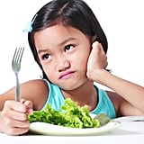 """She stamps her fork in protest, crying, """"Lettuce is for rabbits!"""""""