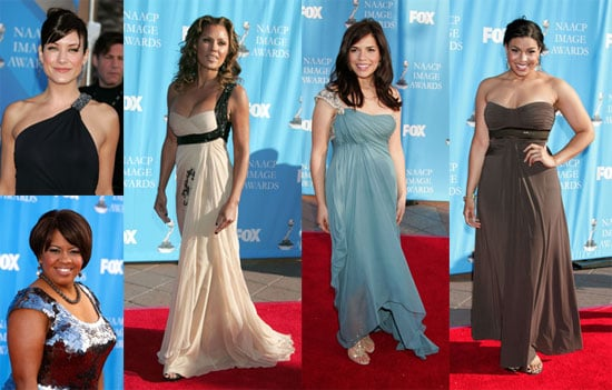 Earth-Tone Wearing Girls Are Breezy at NAACP Awards
