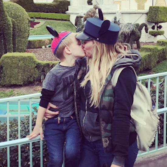 Hilary Duff kisses son