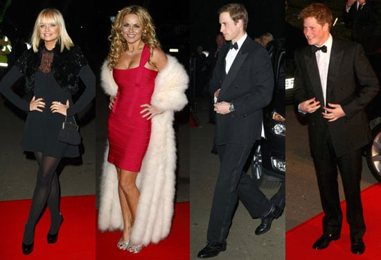Photos of Emma Bunton, Geri Halliwell, Prince William, Prince Harry at Night of Heroes in London