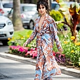 Camila Cabello Blue and Brown Outfit at Cannes Lions 2019