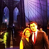 Katie Couric visited Jimmy Kimmel on his new Brooklyn set. Source: Instagram user katiecouric