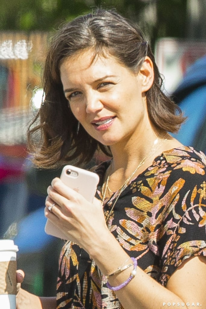 "Hold up — are Katie Holmes and Jamie Foxx engaged? In these exclusive photos, the 39-year-old actress was seen wearing a diamond ring on her left hand while hanging out with her The Secret costar, Jerry O'Connell, in New Orleans on Tuesday. Katie appeared to be in good spirits as she flashed a few smiles and chatted with Jerry during a coffee stop. Later that evening, Katie switched up her look and met up with her 50-year-old beau for some shopping at Michaels. Jamie talked on the phone while Katie shopped around — perhaps he was sharing the exciting news with his friends? Katie and Jamie have been quietly dating since 2013 and it wasn't until September 2016 that the pair finally confirmed their romance with a PDA-filled beach date in Malibu, CA. Katie and Jamie still have yet to address the engagement speculation, but according to Us Weekly, things are pretty serious. ""Their relationship works because of the love, compassion, trust and support they have for each other,"" a source previously told the outlet. ""They confide in and rely on each other pretty heavily. They're definitely very serious."" So, will we be hearing wedding bells soon for Katie and Jamie? Guess we'll just have to wait and see.        Related:                                                                                                           Inside Katie Holmes's Incredibly Secretive Dating History"