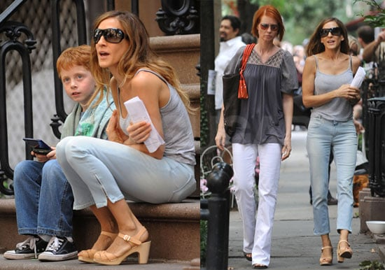 Photos Of Sjp And Cynthia Nixon On Set  Popsugar Celebrity-6457