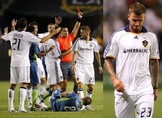 Photos of David Beckham Getting Red Card