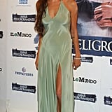 She wore a body-hugging gown for her Beyond Borders world premiere in Madrid in 2003.