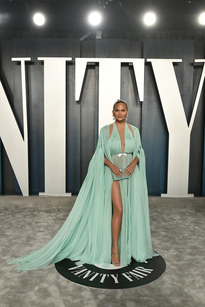 Chrissy Teigen's Dress at the Vanity Fair Oscars Party 2020