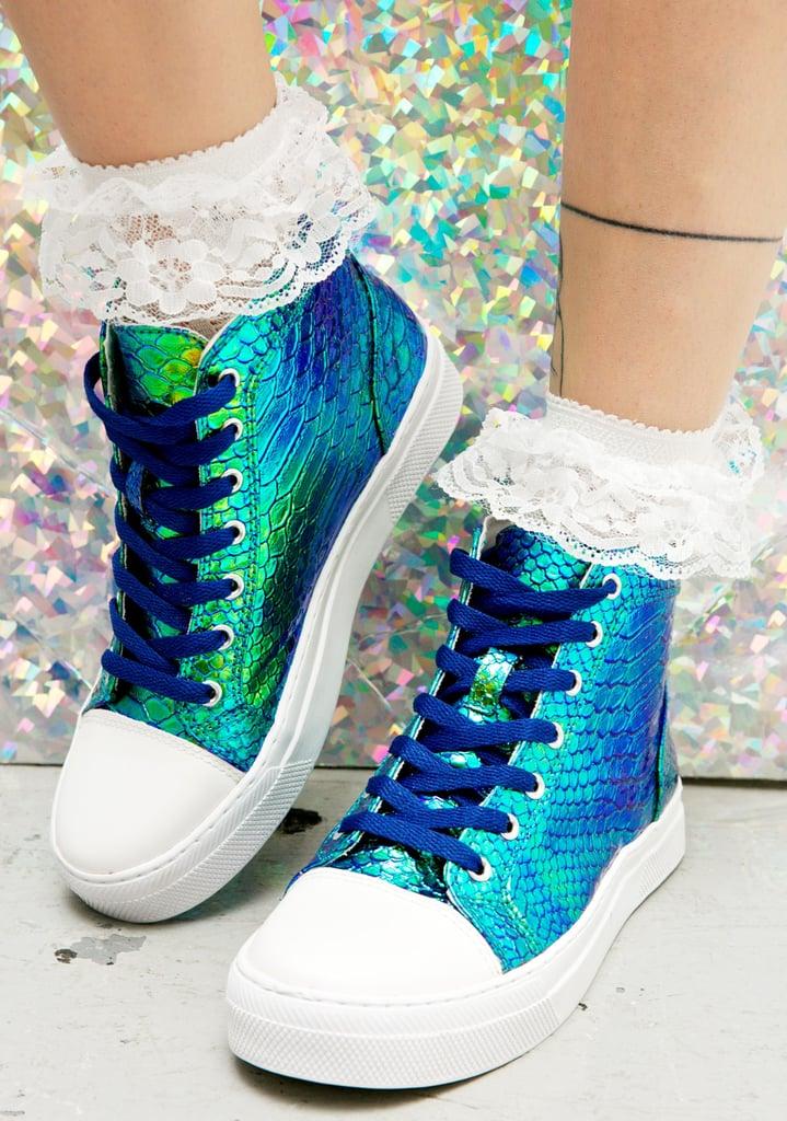 Mermaid Scale High Top Sneakers ($45)