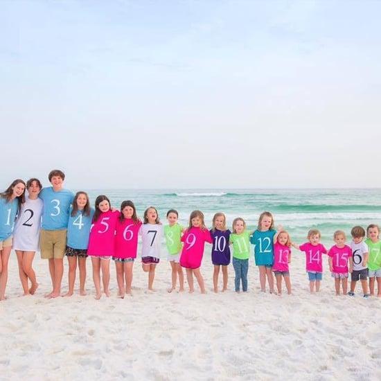 Color-Coded Photo of Family's Grandchildren