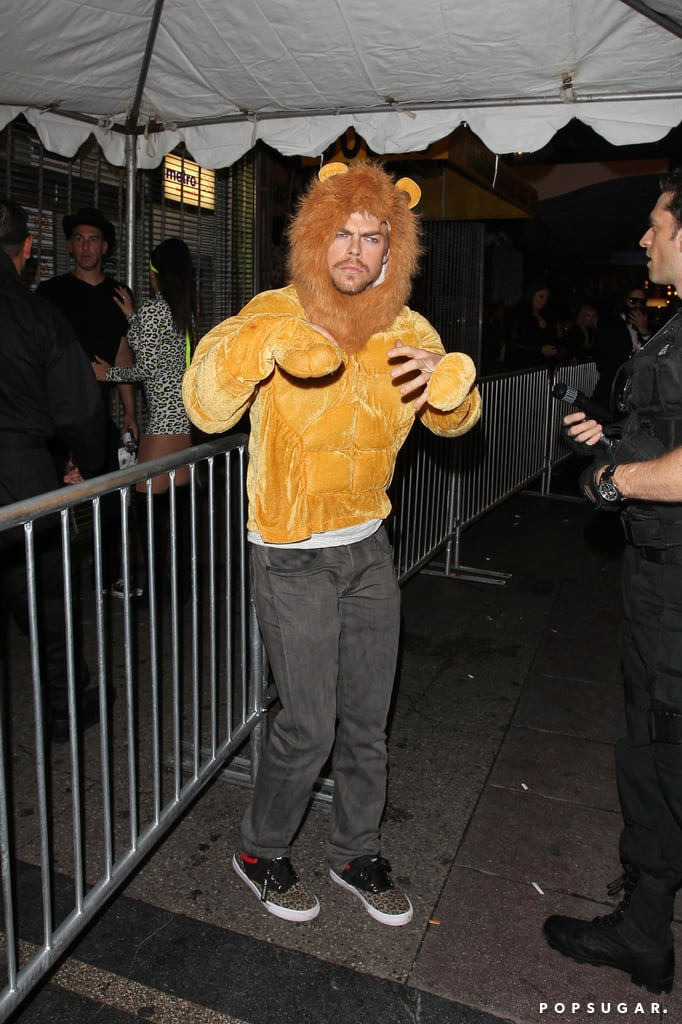 In 2014, Derek Hough stepped out as a lion in downtown LA.