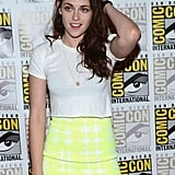 Kristen Stewart wore a tight outfit.