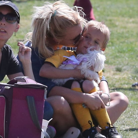 Britney Spears at Kids' Soccer Game April 2013 | Photos