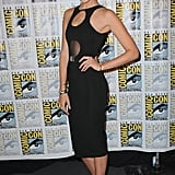 Body-con babe! Gal showed up to Entertainment Weekly's Women Who Kick Ass panel during Comic-Con in a tight cutout black dress by David Koma.