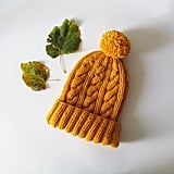 Hand-Knitted Beanie in Yellow