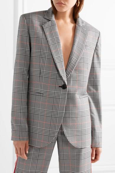 Monse Oversized Embellished Prince of Wales Checked Woven Blazer ($2,660.09)