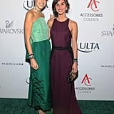 Leandra Medine joined Danielle Snyder in colorful gowns on the carpet for the ACE Awards.