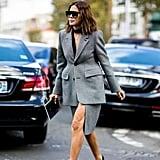 Christine Centenera wearing Balenciaga at Paris Fashion Week