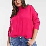 River Island Plus Pink Turtleneck Knitted Jumper