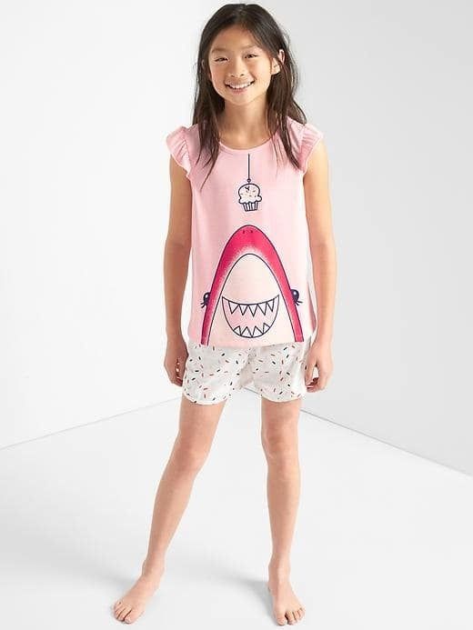 Gap Cupcake Shark Short PJ Set