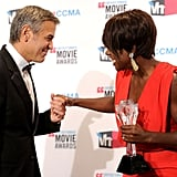 George Clooney and Viola Davis