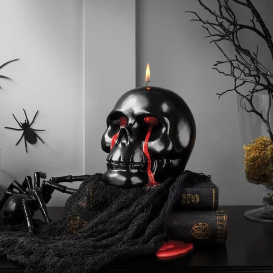 Target Is Selling a Bleeding Skull Halloween Flame Candle