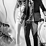 This couple shows off urban cool looks from Armani Exchange. Source: Fashion Gone Rogue