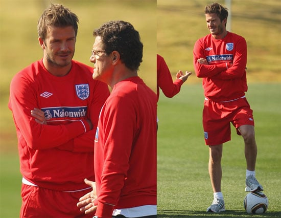 Pictures of David Beckham Practicing With England's World Cup Soccer Team 2010-06-24 21:30:08