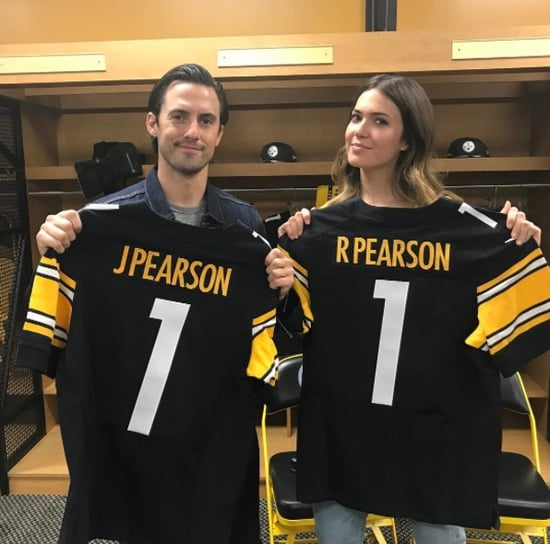 Mandy Moore and Milo Ventimiglia at Heinz Field