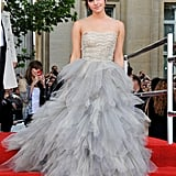 During the world premiere of Harry Potter and the Deathly Hallows: Part 2 in 2011, Emma enchanted us with this tulle wedding gown from Oscar de la Renta.