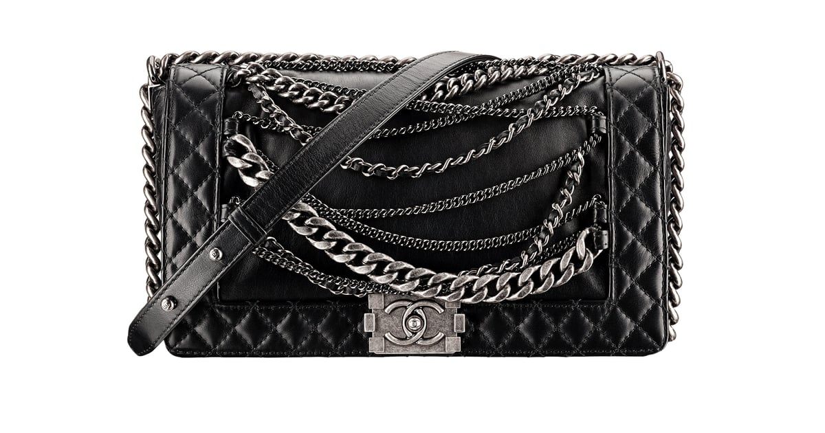 33434d7032ae Chanel Black Leather Boy Chanel Bag With Chains Photo courtesy of ...