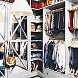 غرفة خزانة الملابس الأصغر حجماً