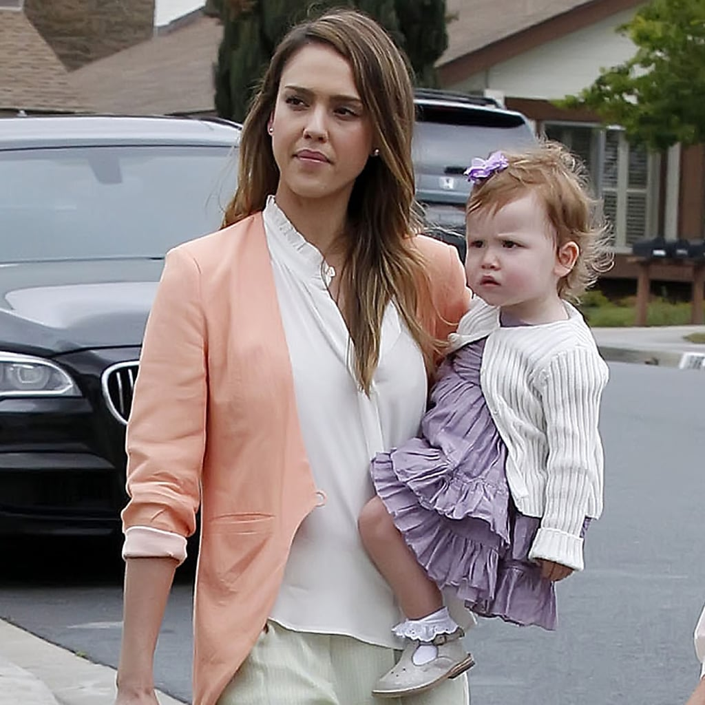 Jessica Alba Easter Outfits 2013 Pictures Popsugar Fashion