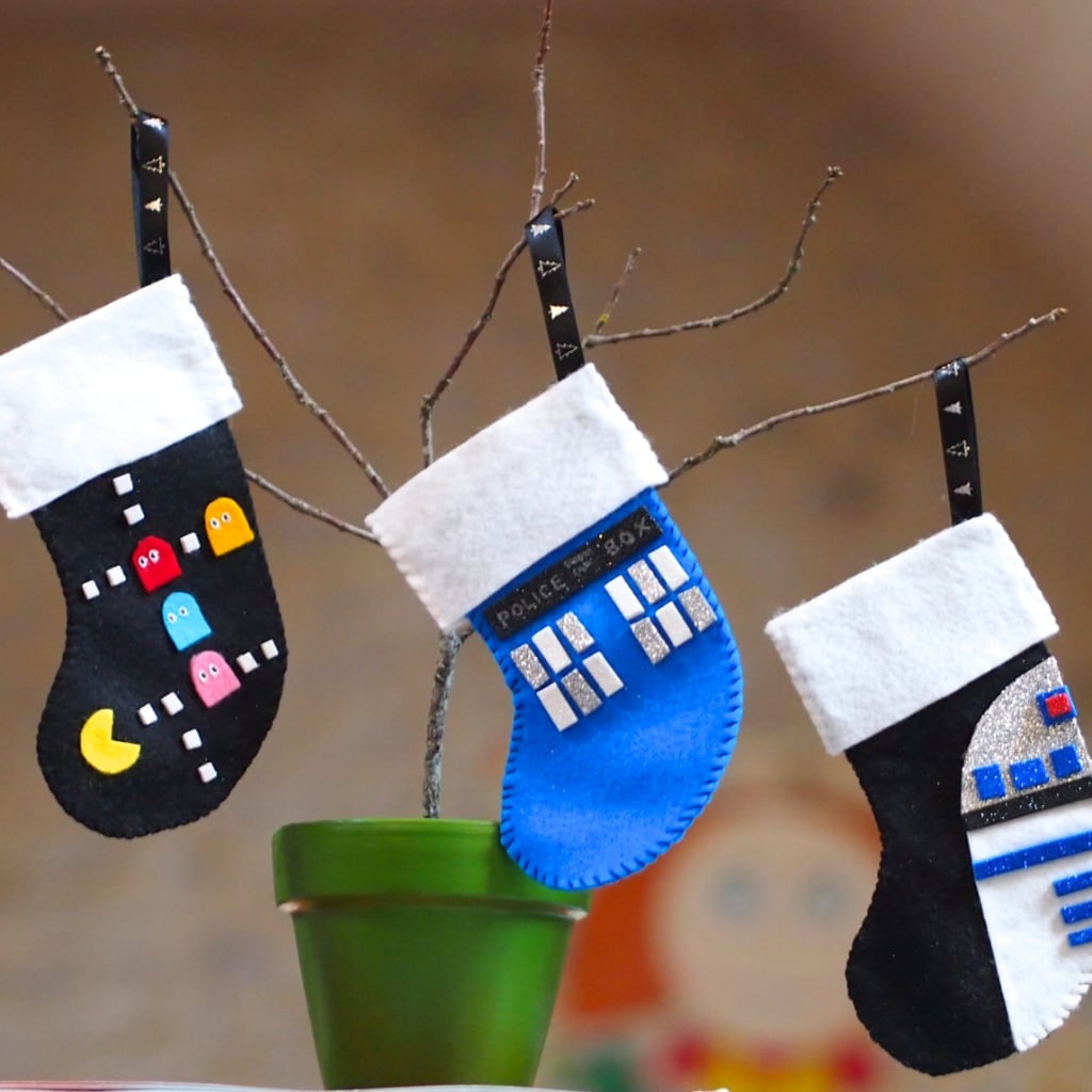 geeky christmas decorations popsugar tech - Blue Grey Christmas Decorations