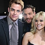Photobombing Reese Witherspoon and Chris Pine at the This Means War LA premiere in 2012.