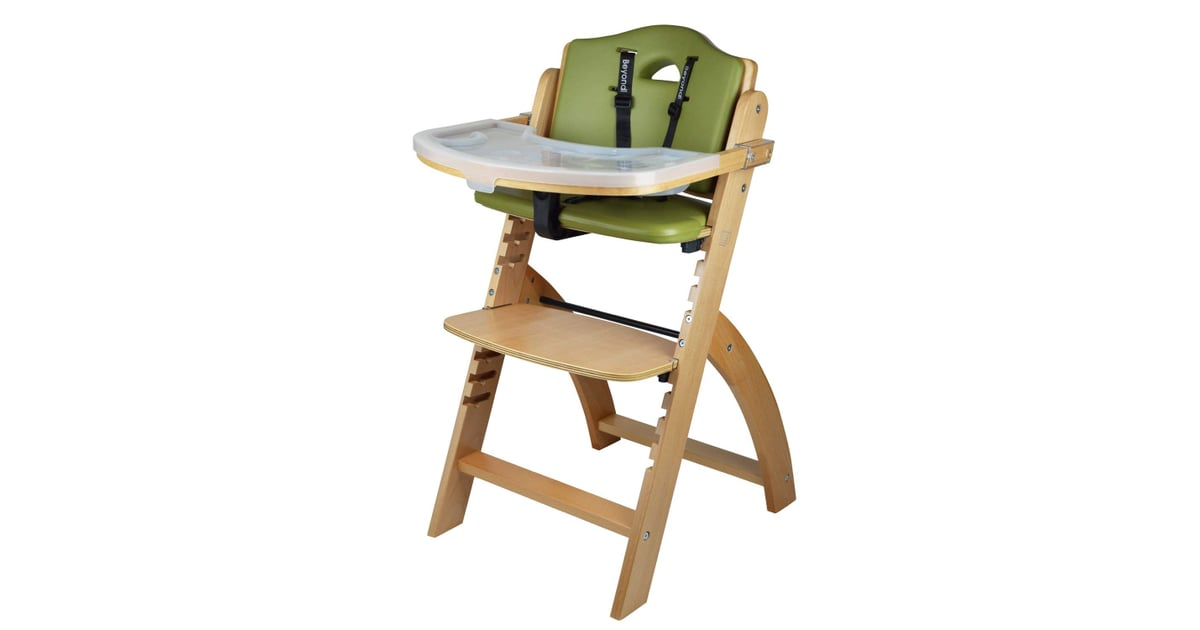 Abiie Beyond Wooden High Chair With Tray Best High