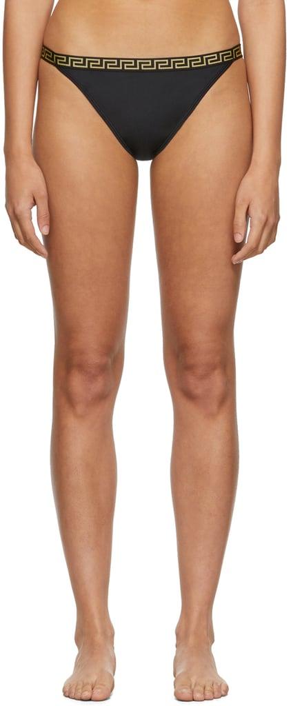 Versace Underwear Black Small Empire Bikini Bottom