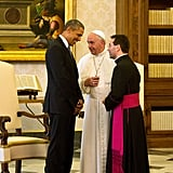 President Obama Meets With Pope Francis For the First Time