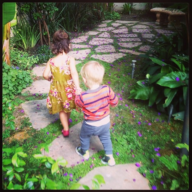 Luca Comrie had a playdate with a friend. Source: Instagram user hilaryduff