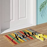Multi Stripe Hello Doormat